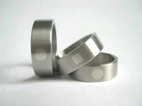 Rings from Beccy Gillatt's Accents range